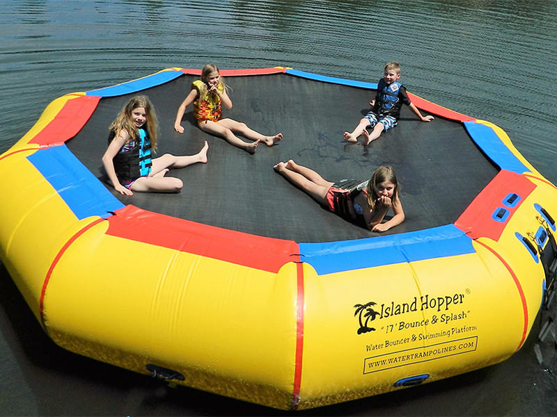 JOY inflatable action inflatable water park for lake for outdoor