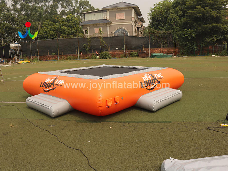 Aqua jump Inflatable Floating  Water Bouncer Sport Trampoline For Sale Video