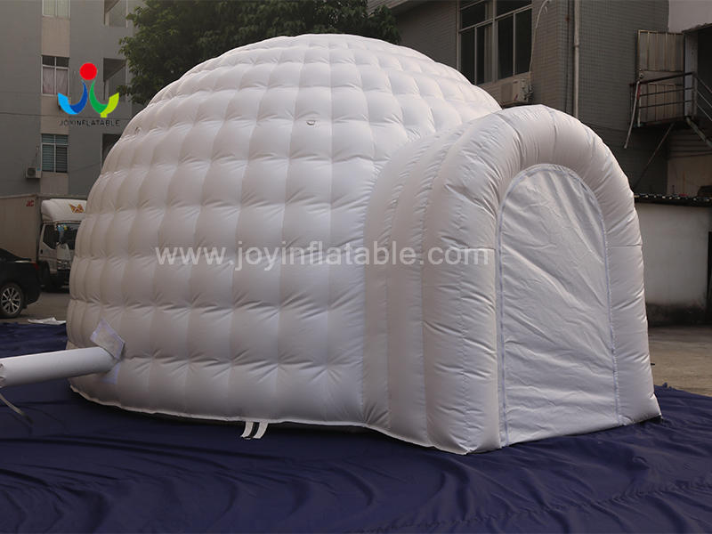 White Inflatable Igloo Dome Tent With 2 Tunnel Entrance From Inflatable Igloo Factory Video