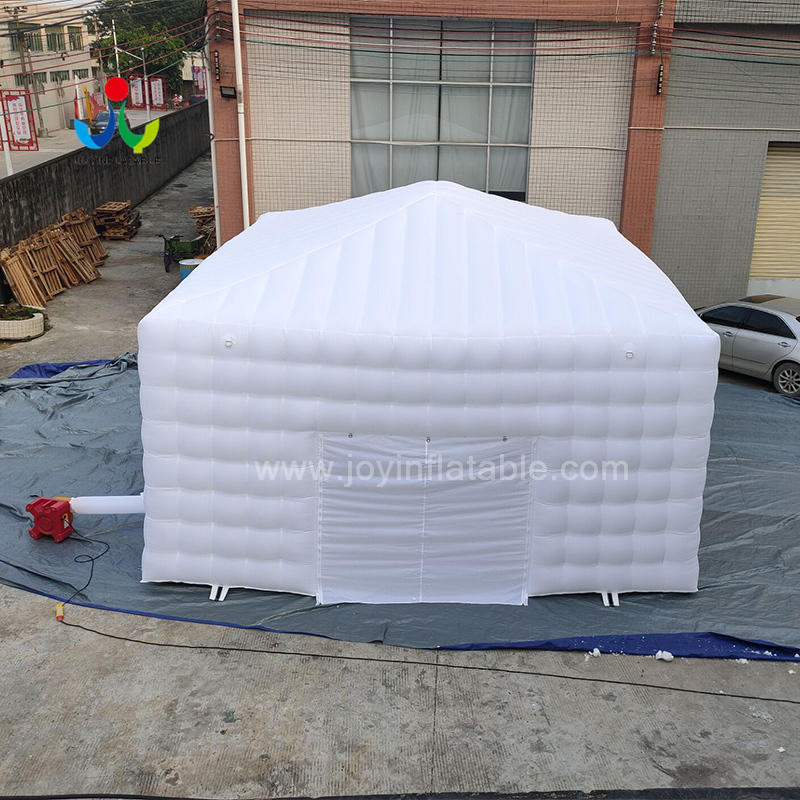 Air Blow Up  White LED Lighting Inflatable Cube Marquee Party Tent