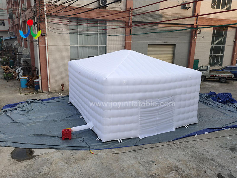 Outdoor White LED Lighting Inflatable Cube Marquee Tent