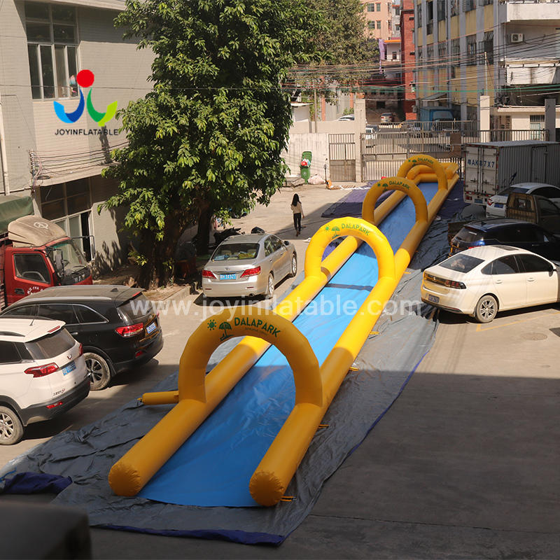 Commercial Outdoor 40m long lane Inflatable water Slip N Slide with pool