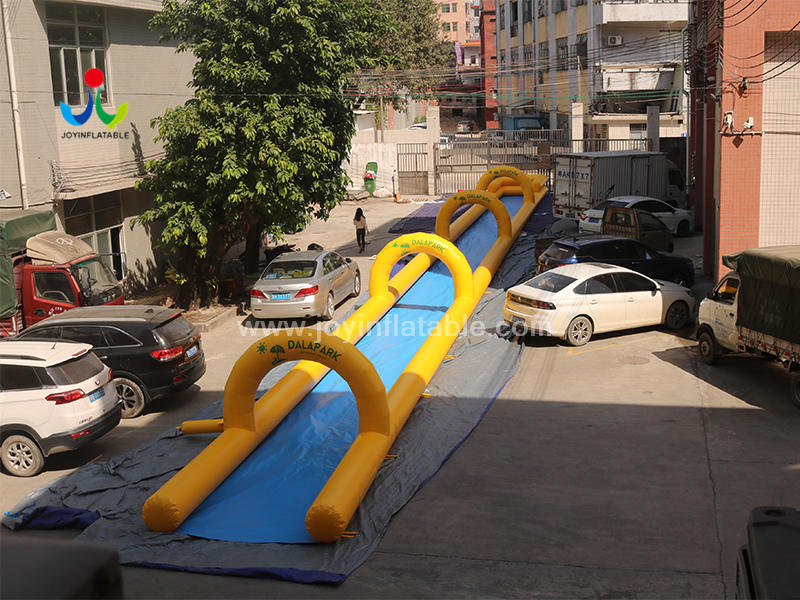 Commercial Outdoor 40m long lane Inflatable water Slip N Slide with pool Video