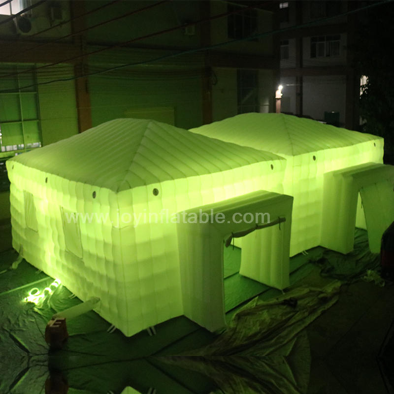 Joyinflatable Outdoor Movable White Large Inflatable Wedding Party Tent with LED lights