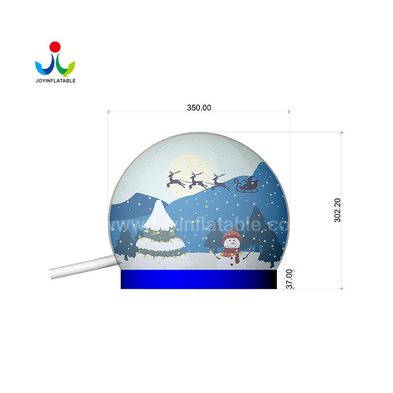 Inflatable Christmas Snow Globe with Custom Banner Background
