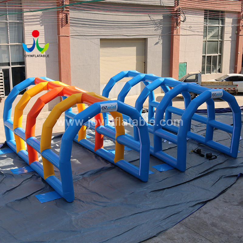 Commercial Inflatable Pressure Misting Tunnel Tent With Portable Mist System