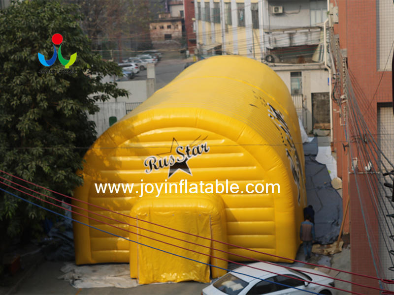Double PVC Air Wall Waterproof Inflatable Airtight Sport Court Tent Video