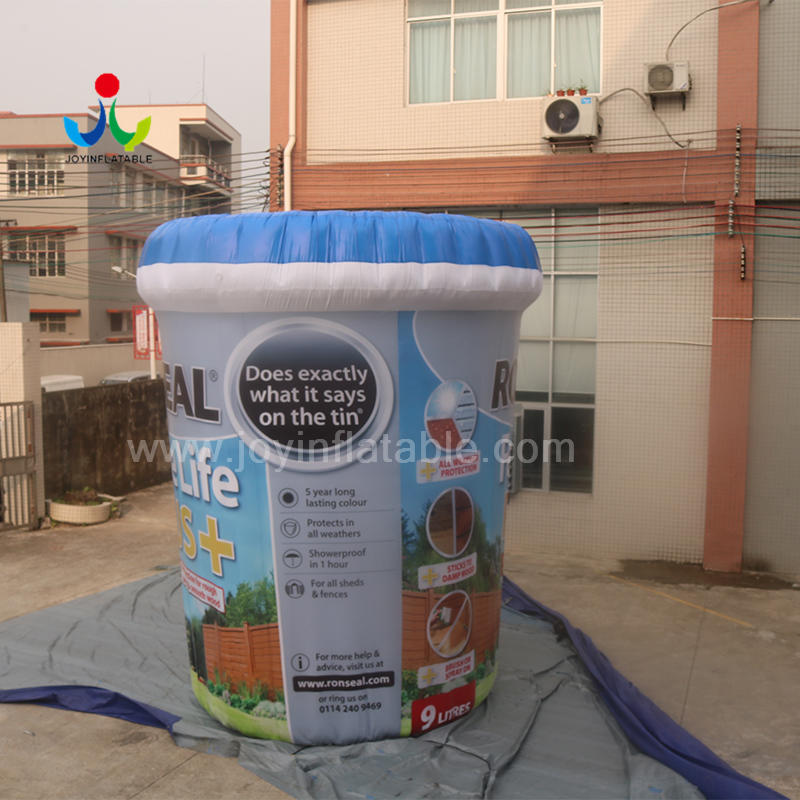 Customs Outdoor Decoration Inflatable Paint Bucket Model For Advertising