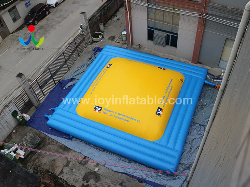Commercial Inflatable Air Soft Mountain Climb Jumping Game Air Bag For Kids Video