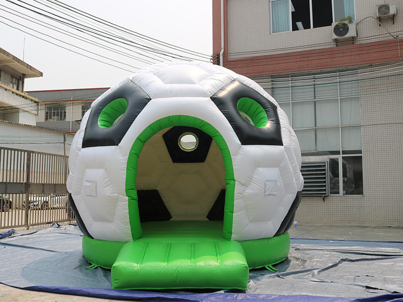 Soccer Ball Inflatable Football Bouncer Jumping Castle House For Kinds  Video