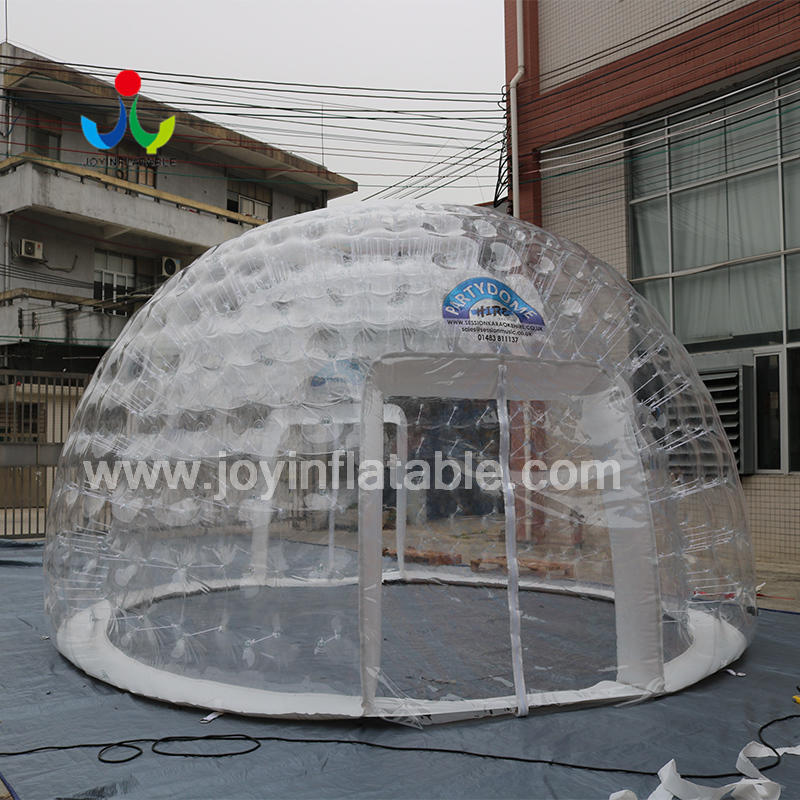 Customized logo Inflatable Clear Igloo House With Two Entrance