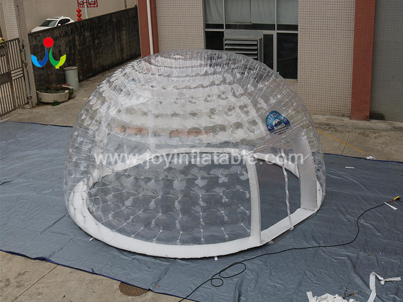 Customized logo Inflatable Clear Igloo House With Two Entrance Video