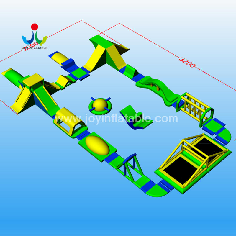 Joyinflatable The Biggest Inflatable Floating Water Sport Park With Jumping Platform For Adult
