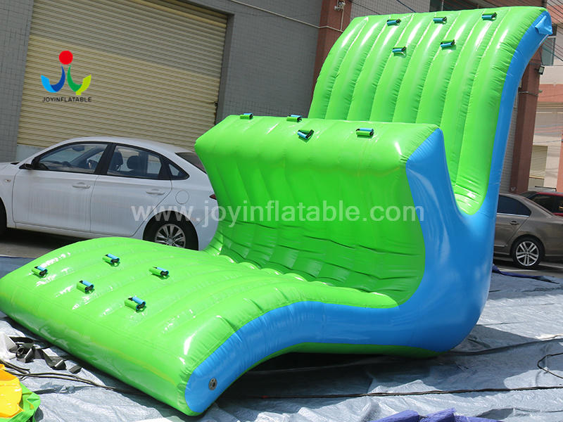PVC Tarpaulin Material Customized Inflatable Floating Seesaw Water Game  For Water Park Video