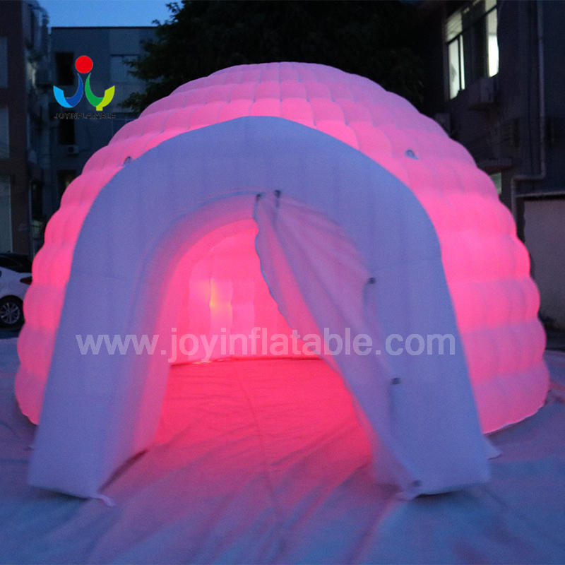 Inflatable Air Building Dome Double Layer Tent With LED Light