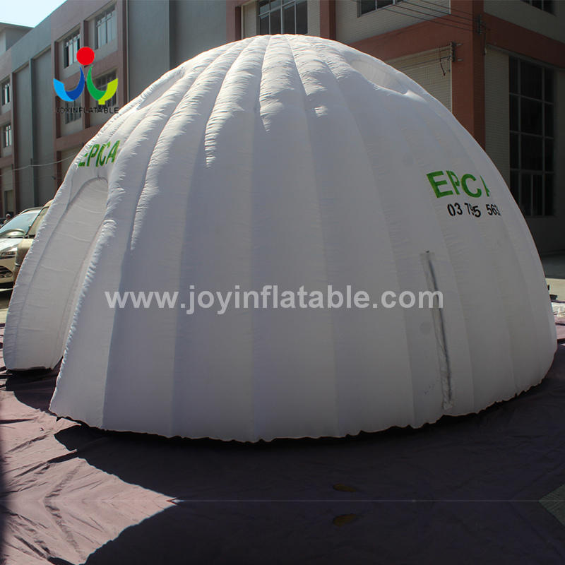 Inflatable Igloo Shape White Dome Tent For Exhibition