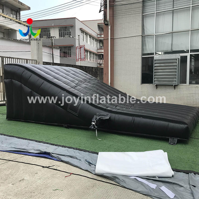 Inflatable Ramped Air Bag Landing For The Dirt Bike Training