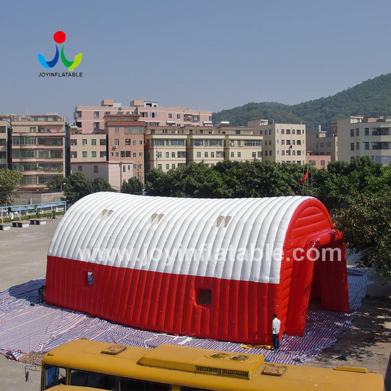 Red And White Airtight Inflatable Marquee Tunnel Tent For Party