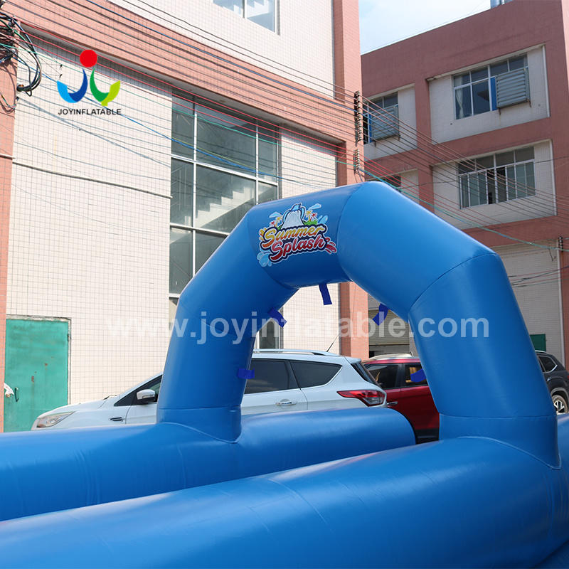 Blue Color Inflatable Water City Slip Slide With Factory Price