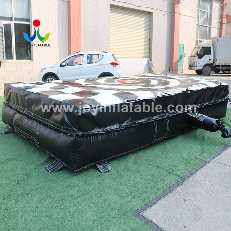 Inflatable Landing Bag For Accomplish a Backflip On A Snowboard