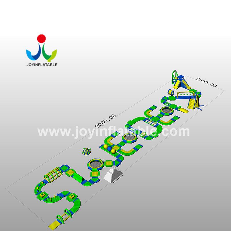 Anti-UV 0.9mm PVC Tarpaulin Inflatable Water Park Equipment For River