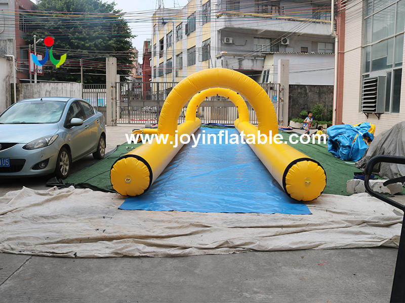 64 Meter Long Water Game Inflatable One Lane Slip With Pool Video