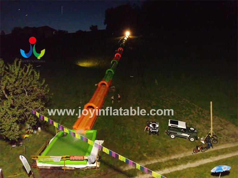 107 Meter Long Inflatable Water Slide For The Street Video