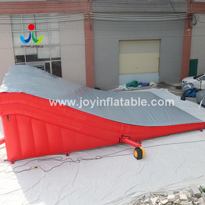 Inflatable Air Bag Lander For Stunt Bike