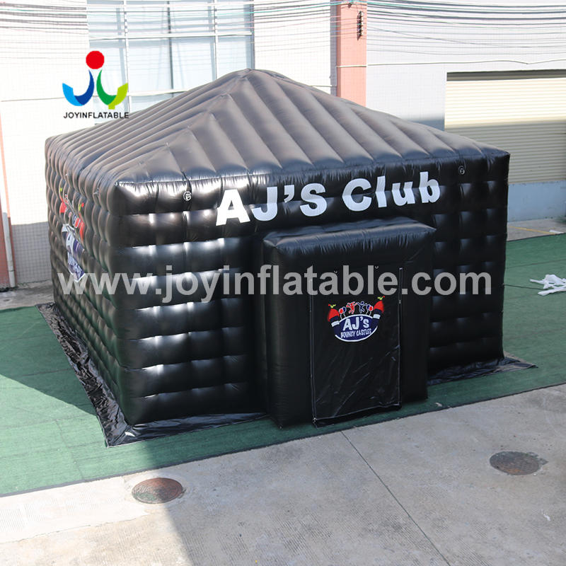 Customized Outdoor Rain-Proof Movable Black Inflatable Cinema Cube Tent