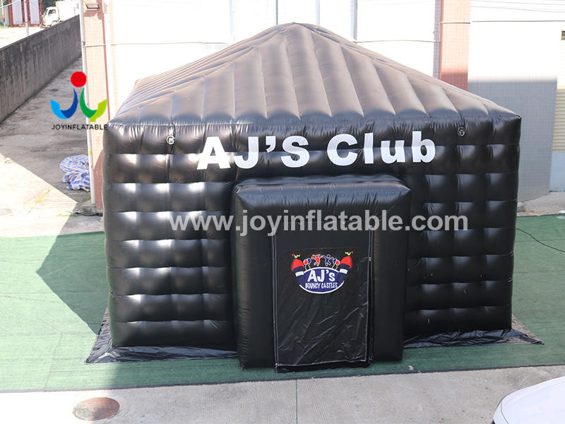 Customized Outdoor Rain-Proof Movable Black Inflatable Cinema Cube Tent Video