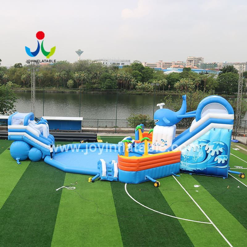 Commercial Grade Wet Inflatable Giant Water Slides With Factory Price