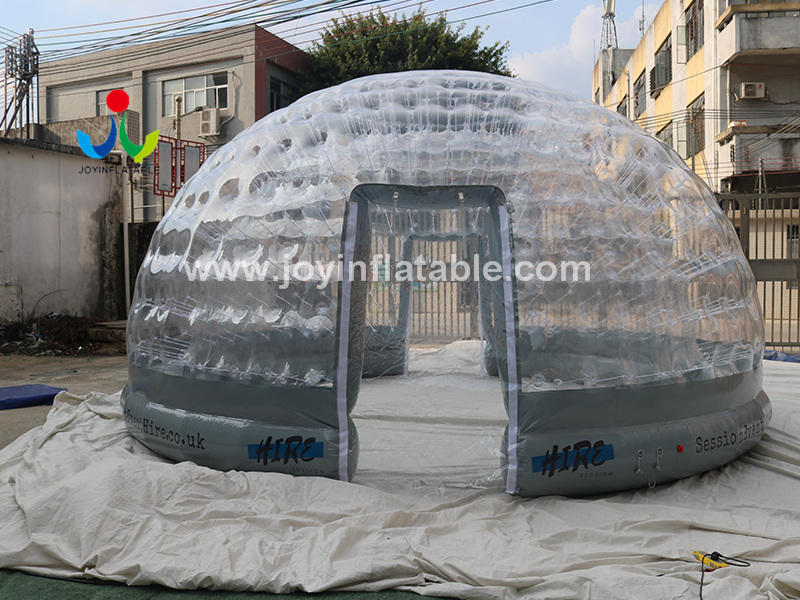 Customized Outdoor Camping Transparent Dome Inflatable Clear Bubble Tent Video