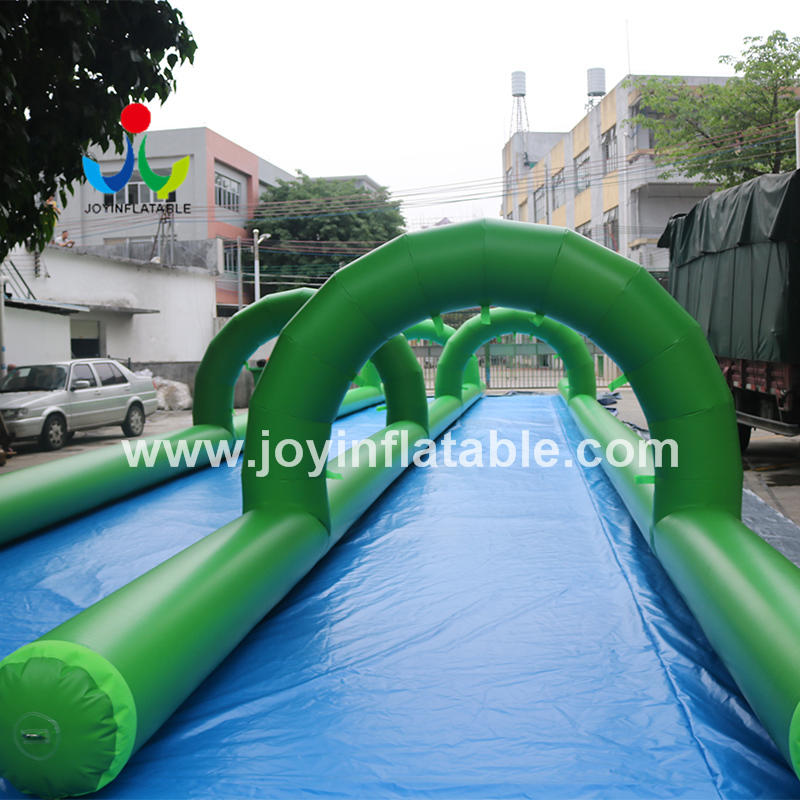 Commercial Inflatable Slip N Slide With Mattress Water City Slide For Summer