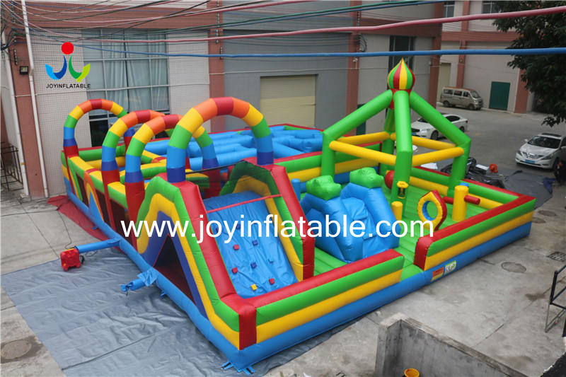 Inflatable Fun City Mix with Maze and Obstacle-1