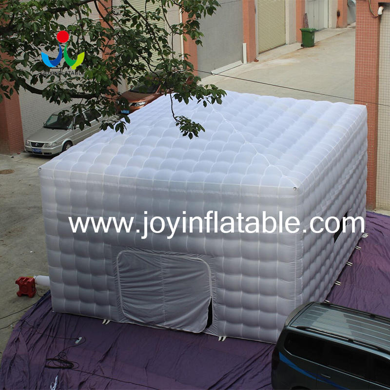 New White Oxford Fabric Inflatable Cube Tent with Ce Blower-1