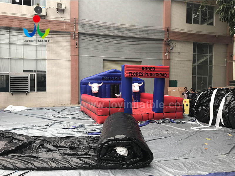 JOY inflatable mobile mechanical bull riding from China for kids-3