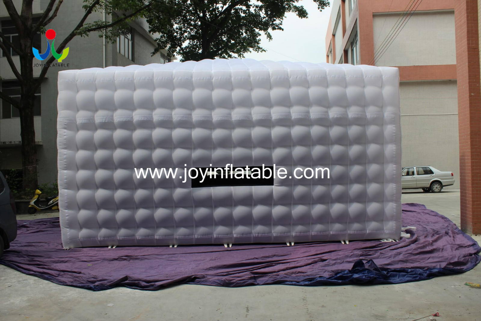 New White Oxford Fabric Inflatable Cube Tent with Ce Blower-2