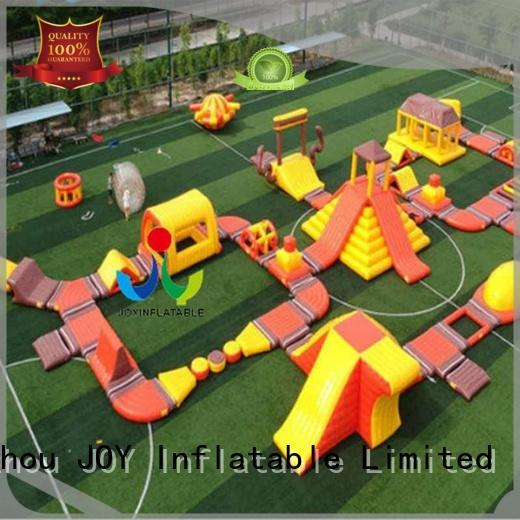 obstacle trendy floating water park floating JOY inflatable