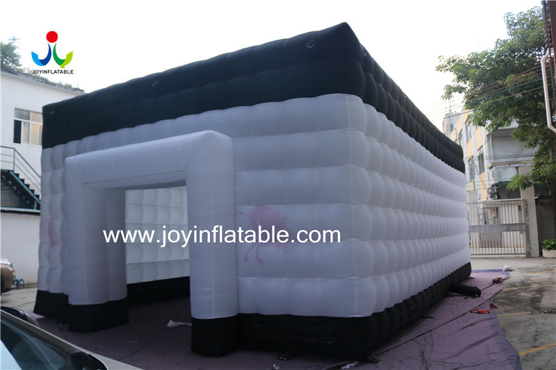 Oxford Fabric Sewed Inflatable Cube Waterproof White & Black color-3