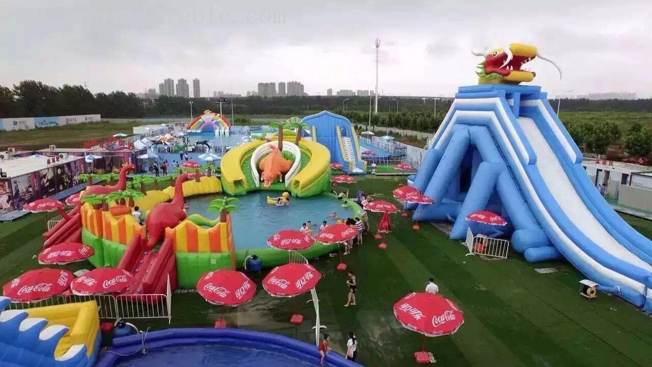 Giant  Size Outdoor Playground Inflatable Water Slides For Adults-3