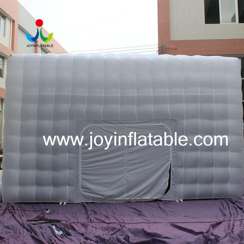 New White Oxford Fabric Inflatable Cube Tent with Ce Blower-3