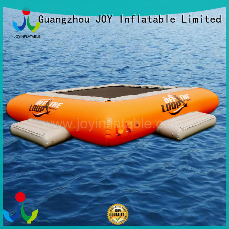 swing inflatable lake trampoline supplier for children
