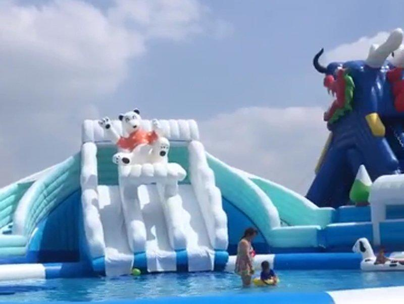giant inflatable water park for kids and adults