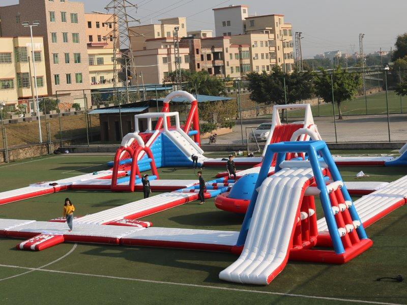 overall Quality inspection for inflatable water park