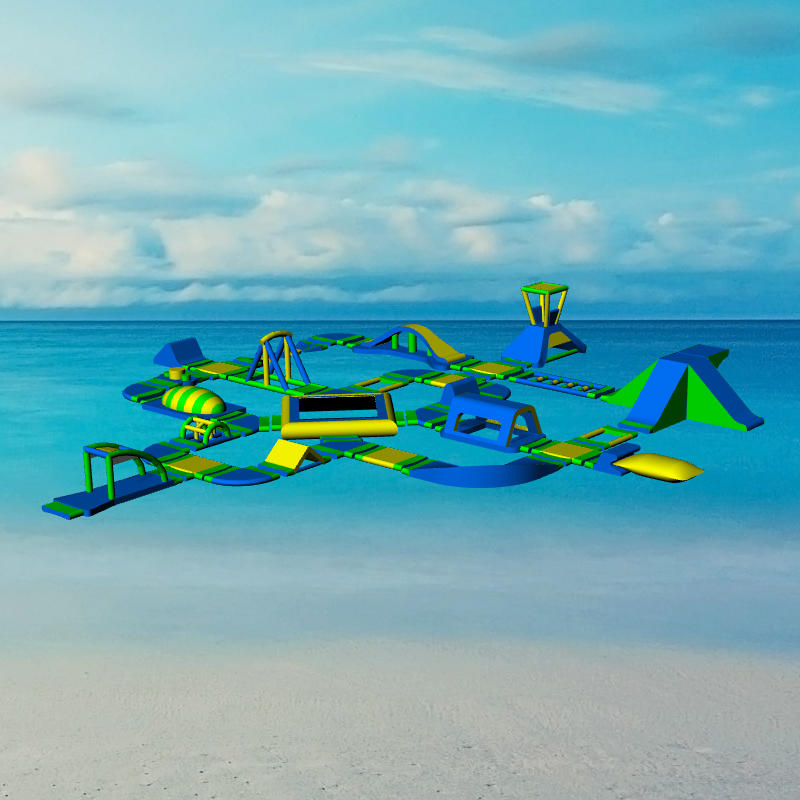 Inflatable sea Aqua Water Amusement Park with Obstacle Course For Lake