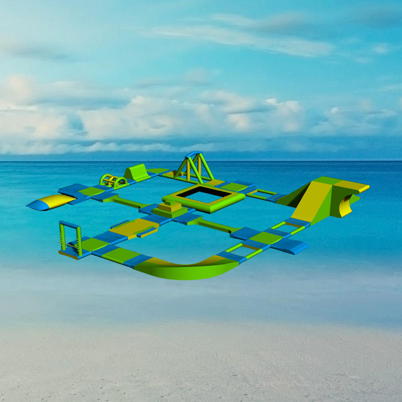 Blow Up Water Park Giant Inflatable Water Park