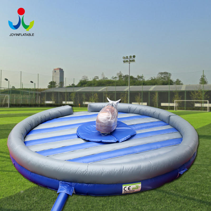 Outdoor Inflatable Mechanical Bull Mattress And Blower / Bull Riding Machine Crazy Rodeo Bull