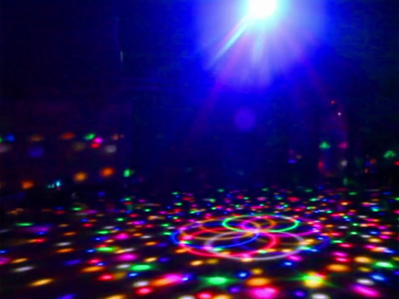 Disco tent with LED lights