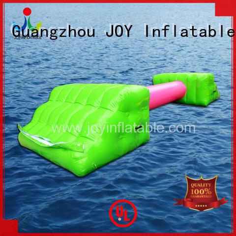 bridge inflatable lake trampoline personalized for children