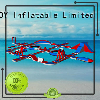 course inflatable lake trampoline design for children JOY inflatable